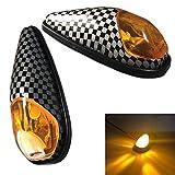 Discover winds バイク スタイリッシュ カウル ウインカー 貼り付けタイプ LED 流線形 デザイン カスタム ドレスアップ 左右 2個セット カーボン