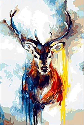 CaiHongPZZPanda DIY-Malerei nach Zahlen für Erwachsene und Kinder Vorgedruckte Leinwand-Ölgemälde-Kits mit Holzrahmen für WohnkulturMiss 40 X 50cm-No Frame
