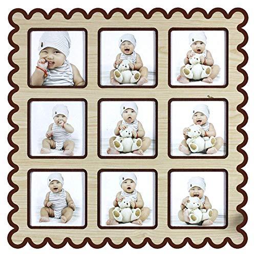 7777777 Baby Negen Paleis fotolijst Mijn eerste jaar fotolijst Groei Memorial Fotobehang Vierkant Moderne Hangende Muur Leuke Creatieve Kinderen fotolijst