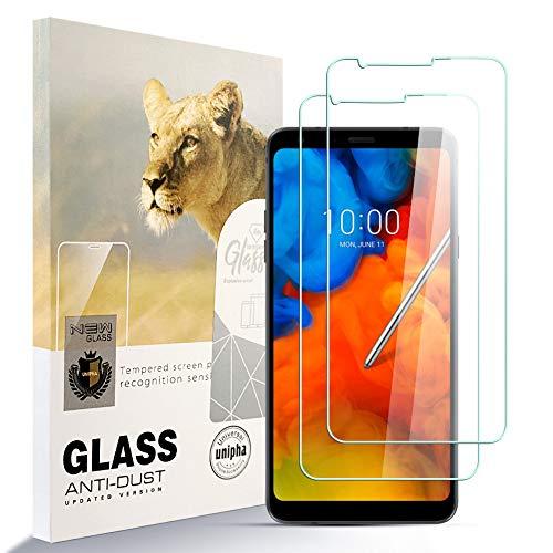 zidwzidwei Bildschirmschutzfolie für LG Q Stylus Plus [2 Stück] HD gehärtetes Glas Folie Anti-Fingerabdruck blasenfrei müheloszu installieren, 38H Festigkeit Glasschutz für LG Q Stylus Plus