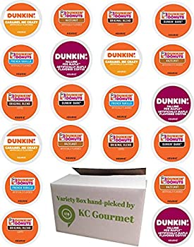 Variety pack of Dunkin Donuts Coffee K Cups for All Keurig K Cup Brewers -  6 flavors NO DECAF 4 K cups each flavor Total of 24 K Cups