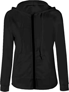 SERAPHY Women Sports Track Jackets Hoodie Simple Zipper Coat Activewear Full Zip Running Outwear Clothes