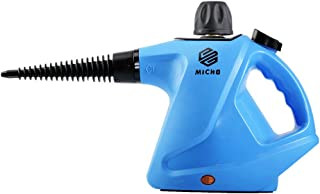 Micho Newest Handheld Steam Cleaner 450 Milliliter, Multi-Purpose Pressurized Steamer for Stain Removal, Carpets, Curtains, Car Seats, Kitchen, Surfaces and More, High Pressure Chemical-Free Sanitizer