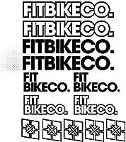 装飾デカールステッカーキットをスタイリングFitbikecoステッカーセットのデカールステッカー自転車フレーム自転車MTB BMXビニールボディ車用 (BLACK)