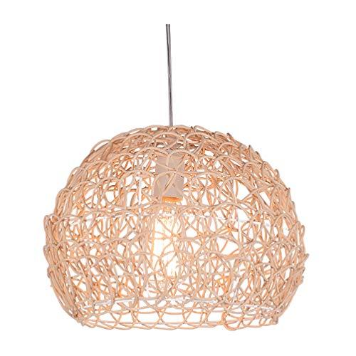 PIXNOR Rattan Korb Decke Pendelleuchte Schatten Bambus Kuppel Weide Kronleuchter Lampenschirm Hängende Dekorationen Rustikale Japanische Lampe für Zuhause Und Shop Dekor