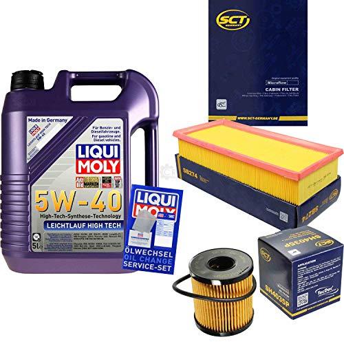 QR-Parts Set 85486224 3864 SA 1317 SB 274 SH 4035 P 5L Liqui Moly High Tech 5W-40 + paquete de filtros SCT-Germany 11234720