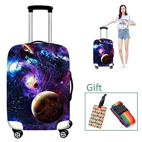Luggage cover Kofferhülle Elastische Reisegepäckabdeckung Schutzhülle Staubdicht Dicker, verschleißfester Digitaldruck für 18-32 Zoll,4,XL