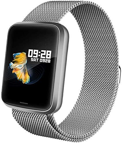 Lintelek Smartwatch Fitness Armband Tracker Blutdruckmessung Herzfrequenzmesser Schrittzähler Schlafmonitor Wasserdicht IP68 für Damen Herren kompatibel iOS und Android