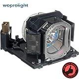 Woprolight DT01151 - Lámpara de repuesto con carcasa para proyectores HITACHI CP-RX79 CP-RX82 ED-X26 DUKANE ImagePro...