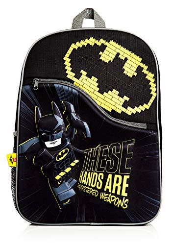 Lego Batman Rucksack Schule, 3D Schulrucksack Kinder, Schwarz Schulranzen für Jungen und Mädchen, Reiserucksack, Batman Kinderrucksack Jungen, Geschenke für Kinder