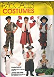 7744 McCalls Sewing Pattern UNCUT Girls Boys Child Halloween Costume Cowboys Soldier Boxer Karate Genie Pirate Size Small 2 4