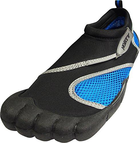 NORTY - Mens Skeletoe Aqua Water Shoe, Black, Royal 39397-12D(M) US