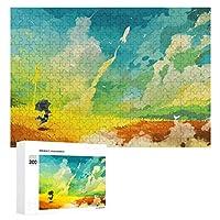 300ピース ジグソーパズル パズル 木製パズル 飾り画 カラフル 虹 幸せな 参考図付き 減圧玩具 頭脳練習 創造力 知育 子供 大人 ギフト プレゼント puzzle