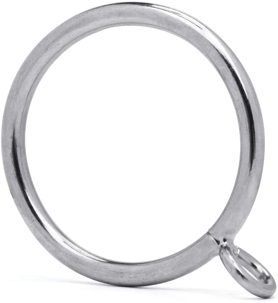 60 Pcs High order 1.5-Inch Milwaukee Mall Inner Diameter Curtain Rings U Fits Eyelets with