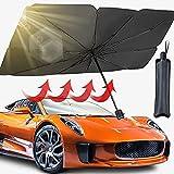 Car Windshield Sun Shade, Car Umbrella, Foldable Car Sun Shade For Windshield, Car Umbrella Sunshades For Car Front Window Blocks UV Rays Heat Keep Vehicle Cool, Fits Most Sedan Vans SUV MPV (57'31')