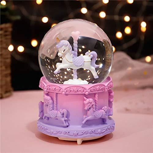 MornBee Schneekugel Geschenk Musikalische Schneekugel für Kinder Mädchen (I)