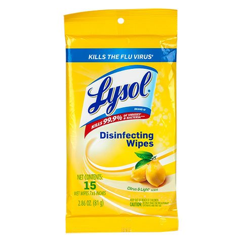 Lysol Disinfecting Wipes, Lemon & Lime Blossom, 15ct (3 pack(15 Count))