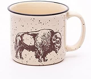Buffalo Campfire Mug, Ceramic, Bison, Coffee Cup