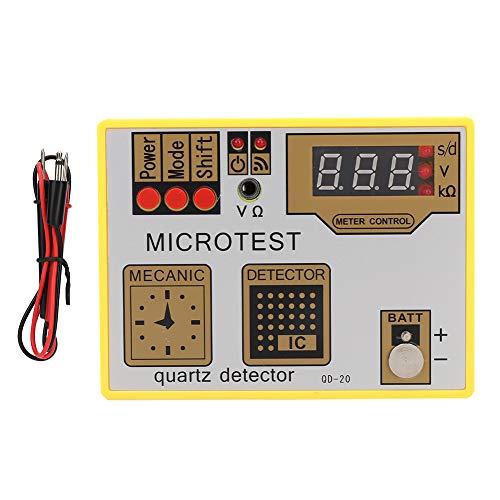 Agatige Probador de Batería de Reloj, Qd-20 Probador de Pulso de Batería de Reloj Probador de Movimiento de Cuarzo Máquina de Desmagnetización Herramienta de Reparación de Relojes
