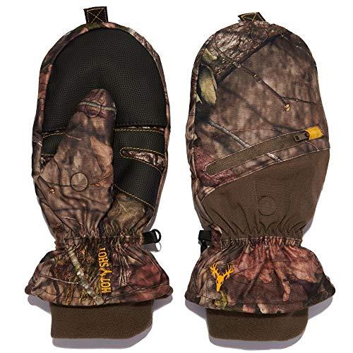 HOT SHOT Men's Huntsman camo Thinsulate Insulated Hunting poptop Glove...