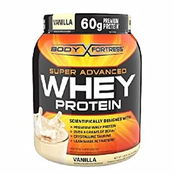 Body Fortress Whey Protein Powder Vanilla 31.2 Ounces  885g   Pack of 2  by Body Fortress