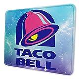 AOOEDM Taco Bell Alfombrilla de ratón Rectángulo de Goma Antideslizante para Ordenadores