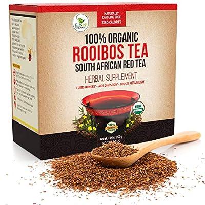 Organic Rooibos - 80 Tea Bags - Caffeine Free South African Red Tea Detox from Kiss Me Organics