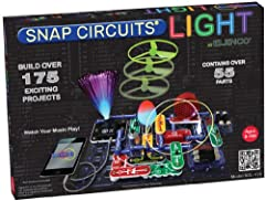 Build over 175 amazing projects with over 55 color coded circuit components Hands on introduction to electronics learn how to construct real working circuits, devices and fiber optics Plug in your iPhone, Android phone or any MP3 player and see your ...