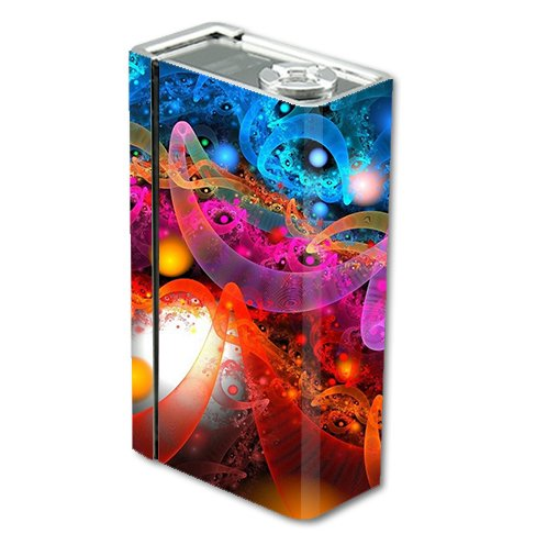 Skin Decal Vinyl Wrap for Smok Xcube 2 BT50 Vape Mod Box / Fractal Colors