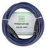 Pronomic Stage DMX3-10 DMX-Kabel 10 Meter (zur Verkabelung von Lichteffekten, Goldkontakte, Mantelfarbe: Blau, XLR Male zu XLR Female)