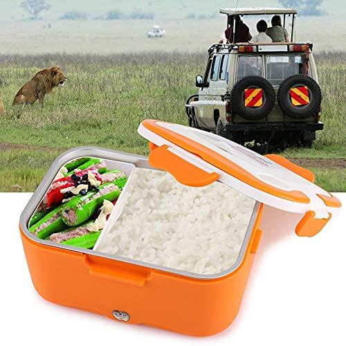 12V Lunch Box - 1.5L Portable 12V   24V Calentador eléctrico de calefacción de automóviles Bento Food Warmer Container para viajar (tamaño : Orange 24V)
