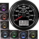 85MM Marine GPS Speedometer Gauge 0-80MPH...