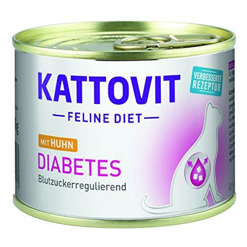 Finnern - Kattovit 12 x High Fibre 185g Katzenfutter Huhn bei Diabetes/Gewicht