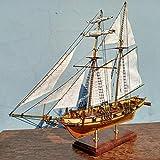 Scale 1/96 Laser-Cut Wooden Sailboat Model kit: The Harvey 1847 Ship Model