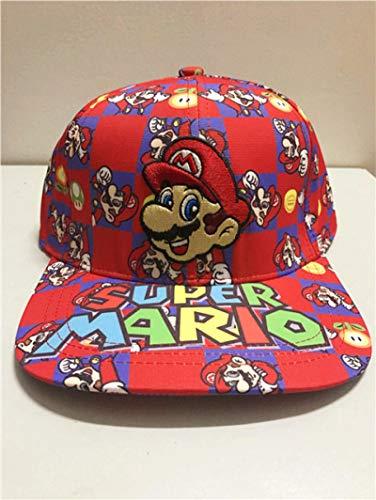 Sombrero de Super Mario Hip Hop Super Mario Super Mario Mario Bros.Gorra de béisbol bordada Gorra de hip hop Sombrero para el sol