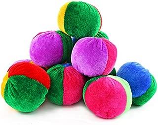 Neworkg 12 Pack Soft Velvet Bean Bags - 3 inches - Fun Sports Game Bean Bag Carnival Toy Bean Bag Toss Game