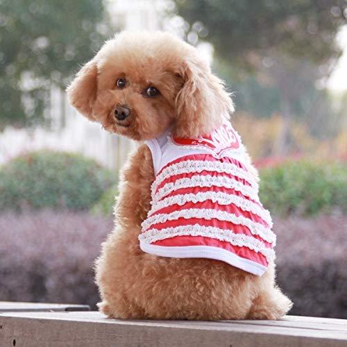 HAPPY LEMON PetSupplies Hondspecifieke Duurzame Mode Leuke Hart Patroon Huisdier Jurk, Grootte: XS, Terug Lengte: 20cm, Borst: 30cm, Willekeurige Kleur Levering Veilig en comfortabel, S-hps-0518c