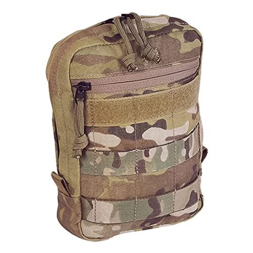 QWZ Bolso de la Correa de la Pistola táctica del Engranaje Militar, Bolsa de Pistola para Pistolas, Accesorios Bolsa de Tiro Bolsa de Lona para Disparar (Color : MC Camouflage)
