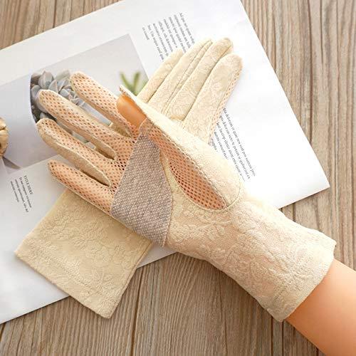 Rekaf Primavera verano finas guantes de algodón fino protector solar sweat-absorbente transpirable sin dedos pantalla táctil guante que conduce antideslizante corta mitita anti-ultravioleta actividade