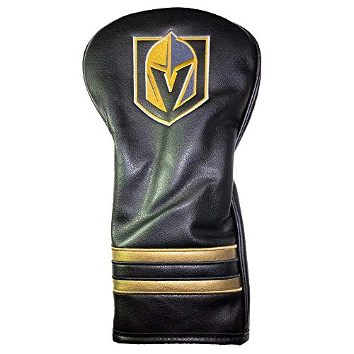 Team Golf NHL Las Vegas Golden Knights Vintage Driver Golf Club Headcover, Form Fitting Design, Retro Design & Superb Embroidery