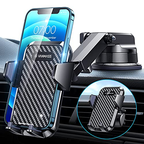 [2021 Upgraded] VANMASS Car Dashboard Phone Holder Mount [Super Suction Cup]...