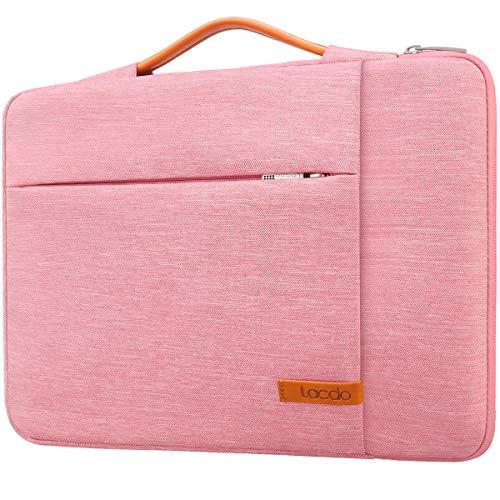 Lacdo Laptophülle Laptoptasche für Microsoft Surface Laptop/Book 3 2, 13,5/13,3 Zoll Alt MacBook Pro 2012-2015 / Alt MacBook Air (A1369 A1466), Jumper Dell HP Notebook Hülle Tasche Schutzhülle, Rosa