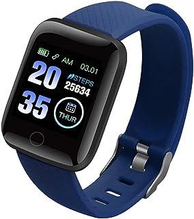 ZUHANGMENG Smart Watch Bluetooth, vattentät färg helpekskärm fitnessmätare, puls blodtrycksmätning spårrörelse