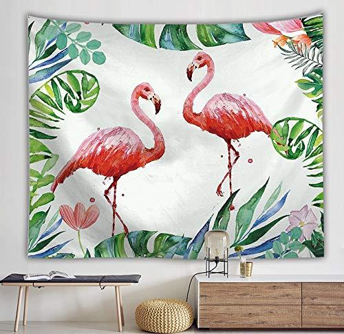 WERT Flamingo Tapiz de Arte de Pared Tapiz Tropical decoración del hogar Cortina Sala de Estar Colcha Mantel A7 95x73cm