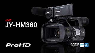 JVC JY-HM360AG Professional Video Camcorder + FOC Fxlion DF-U65 Battery, PL-6000JL Battery Charger and Also Camera Carry Case.
