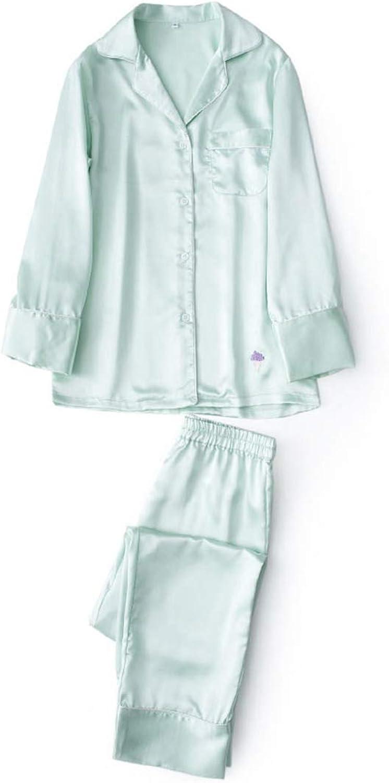 Dersimio Sexy Pink Satin Pajamas Sets Women Long Sleeve Pyjamas Suit Autumn Pure color Homewear Men Silk Sleepwear Couples