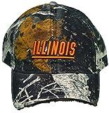 NCAA Signatures New!! Illinois University Illini Adjustable Buckle Back Hat Embroidered Factory Distressed Cap