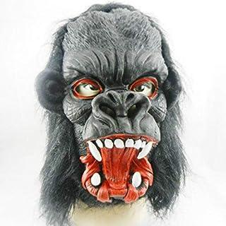 Horror Ghost Mask Gorilla Design Latex - Black