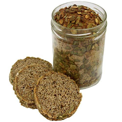 Chia Dinkelbrot im Glas 850ml - Geschenk - Brot im Glas (13,23 € / kg)