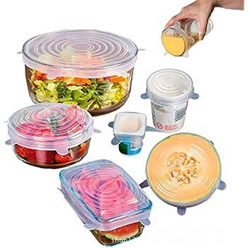 6 Piezas de tazones de Silicona para Alimentos con 2 Piezas de pa/ño de Silicona para Almacenamiento de Alimentos ZJW 4 Piezas de Bolsas de Silicona Reutilizables para Almacenamiento de Alimentos